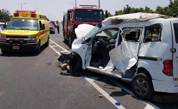 זירת התאונה בכביש 70