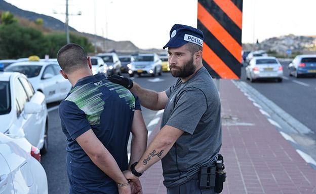 נעצרו שמונה חשודים, אתמול (דוברות המשטרה)