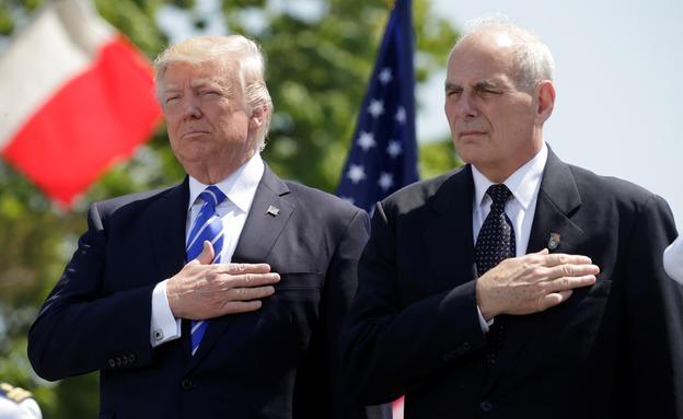 ''ההסכם לא עוזר לארה''ב''. קלי וטראמפ (רויטרס)