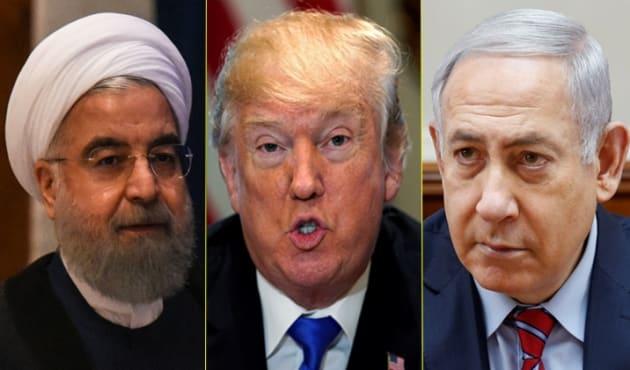 Trump, Netanyahu et Rohani