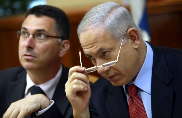Benjamin Netanyahu et Gideon Sa'ar